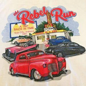 VTG XL Rebel Run James Dean Festival Car Tee